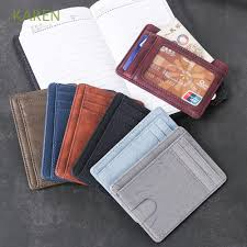 Travel <b>Unisex Coin</b> Bag Leather <b>Small Mini</b> Card Package | Shopee ...