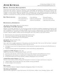 hotel job resume housekeeper example hospitality sample cv for management resume format