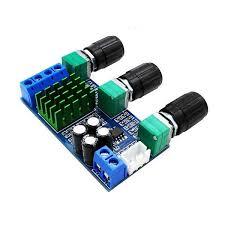 Dc 12V-24V <b>Tpa3116D2 80Wx2</b> Digital <b>Amplifier Board</b> Treble Bass ...