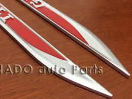 <b>1 Pair</b> ABS Auto Car Door Fender Side Emblem Badge Rear <b>Trunk</b> ...