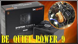 BeQuiet System <b>power</b> 9 500W - YouTube