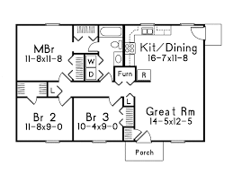 Grass Roots I Ranch Home Plan D    House Plans and MoreRanch House Plan First Floor   D    House Plans and More