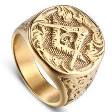 <b>Jingyang 2019</b> New <b>Stainless Steel</b> Gold Masonic Ag Rings High ...