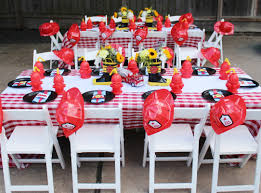 Firefighter Cupcake Decorations A Two Alarm Fireman Birthday Party Spaceships And Laser Beams