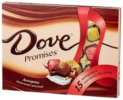 Набор <b>конфет Dove</b> Promises ассорти молочный шоколад 118 г ...