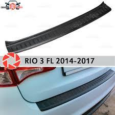 <b>Накладка задний</b> бампер для Kia Rio 3 2014 2017 гвардии ...