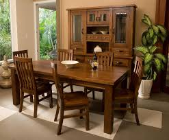 seven piece dining set: mission style seven piece dining set