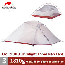 naturehike ultralight waterproof outdoor 4 season 2 person tent 210t 20d plaid fabric tents double layer camping by dh