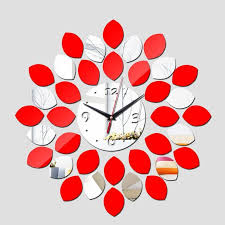 small bathroom clock: wholesale  geometric horloge sale top fashion quartz needle d wall clock home decoration diy mirror