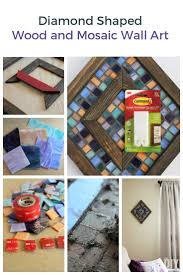 mosaic wall decor: diamond shaped wood and mosaic wall art unique wall decor
