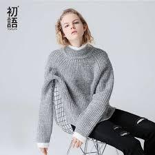 Toyouth <b>Turtleneck Women</b> Solid <b>Sweater</b> Oversized Long Sleeve ...