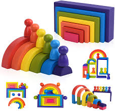 Handmade Learning <b>Toy 6 Pieces</b> 1-3 Years Montessori Colourful ...