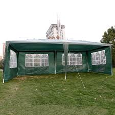 wedding party tent outdoor 10x20 easy set gazebo bbq canopy cater events green bbq wedding tent