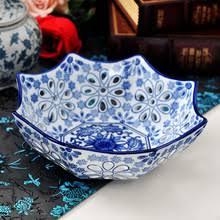 Голубое и <b>белое</b> керамическое <b>блюдо для фруктов</b> lvkong ...