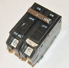 ge electrical circuit breakers fuse boxes 125 amp ge general electric double 2 pole breaker type tqal21125