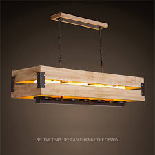 <b>Nordic</b> Loft Style Marble Candle <b>Rectangle Wooden</b> LED Pendant ...