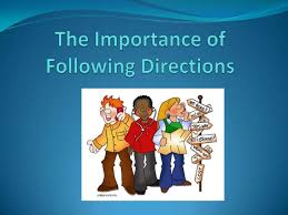 essay on the importance of following instructions  subscribe now
