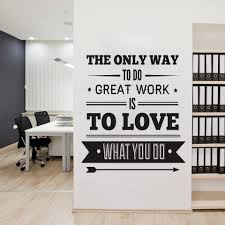 office decor typography inspirational quote wall decoration art vinyl on inspirationde art for the office wall