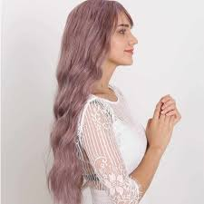 <b>MANWEI</b> Long Wavy <b>Wigs</b> With Bangs Heat Resistant Synthetic Hair ...