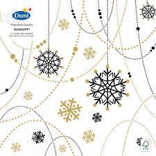 Купить <b>Салфетки бумажные Duni</b> Snow Necklace 40*40см 12шт с ...