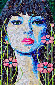 best ideas about mosaic portrait mosaic art after my foray into paper mosaic art i have so much respect for those artists