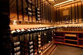 display angles down lit bellevue custom wine cellar