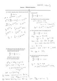 differential equations math revision exercises resources back