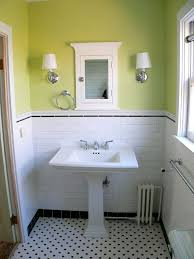 white tile bathroom arched doorway