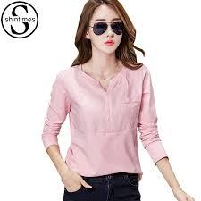 <b>Shintimes</b> Chemise Femme Long Sleeve Shirt Women Pink Blusas ...