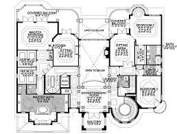 Italian Style House Plans   Plan   Upper Second Floor Plan