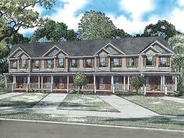 Apartment House Plans   Living Units  Two Story Design   M     Unit Multi Family Plan  M