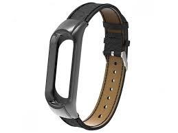 <b>Aксессуар Ремешок Apres</b> для Xiaomi Mi Band 3 Leather Strap Black
