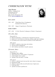 resume templates sample format of nurses best cv for 87 mesmerizing best cv template resume templates