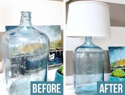 diy clear glass table lamp