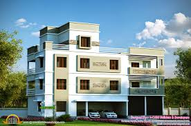 3 storied house plan kerala home design and floor plans style flat roof 2453 square feet office beautiful interior office kerala home design