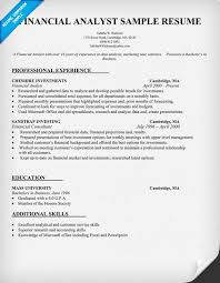financial analyst resume example   resume examples  resume and offices