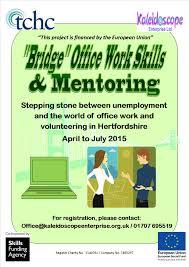 bridge office work skills and mentoring training  bridge office work skills poster 07042015