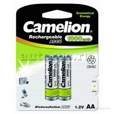 <b>Батарейка</b> Аккумуляторная <b>Camelion AA</b>-1000mAh Ni-Cd BL-2 ...