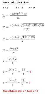 Quadratic Formula Algebra Class com