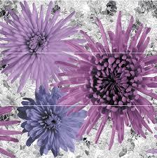 <b>Панно</b> настенное <b>Alma Ceramica</b> (Альма Керамика) <b>Roxi</b> Цветы ...