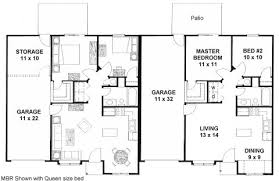 Ideas duplex floor plans   garagePlan   d   duplex ranch   first floor plan