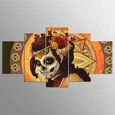 <b>YSDAFEN 5 Panel Modern</b> Day of The Dead Hd Canvas Art for ...