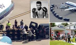 Muhammad Ali's body arrives in Louisville for his funeral | Daily Mail ...