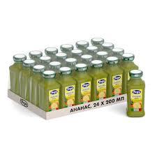 Фруктовый <b>сок Yoga ананасовый</b>, 0.2 л, стекло 24 шт. — купить в ...