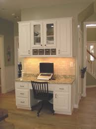 kitchen cabinets home office transitional:  custom office cabinetry  in kitchen desk