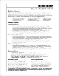 resume examples examples of professional resumes examples of  examples of professional resumes qualifications summary and experience highlights