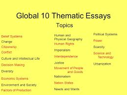 thematic essay on belief systems  compucenter cothematic essay on belief systemsglobal thematic essays topics belief systems change citizenship global thematic essays