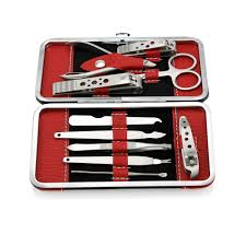 10 piece <b>Manicure Pedicure</b> Set <b>Nail Clippers</b> Cuticle Beauty Care ...