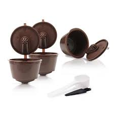 3pcs reusable empty coffee capsule pod stainless steel cup filter