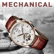 <b>GUANQIN Men</b> Mechanical Watches Business Stainless <b>Steel</b> ...